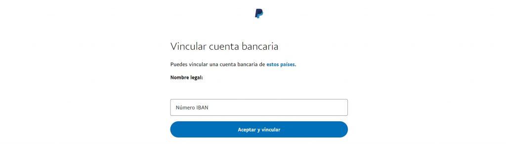 agregar banco a paypal